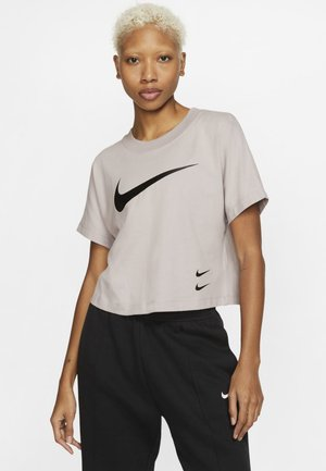 Print T-shirt - silver lilac/black