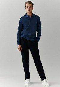 Massimo Dutti - MIT LANGEN ÄRMELN - Polo shirt - blue - 0