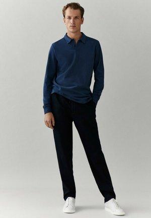 MIT LANGEN ÄRMELN - Poloshirt - blue