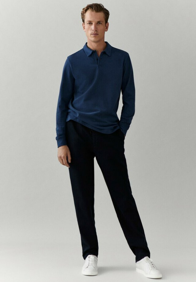 MIT LANGEN ÄRMELN - Polo shirt - blue