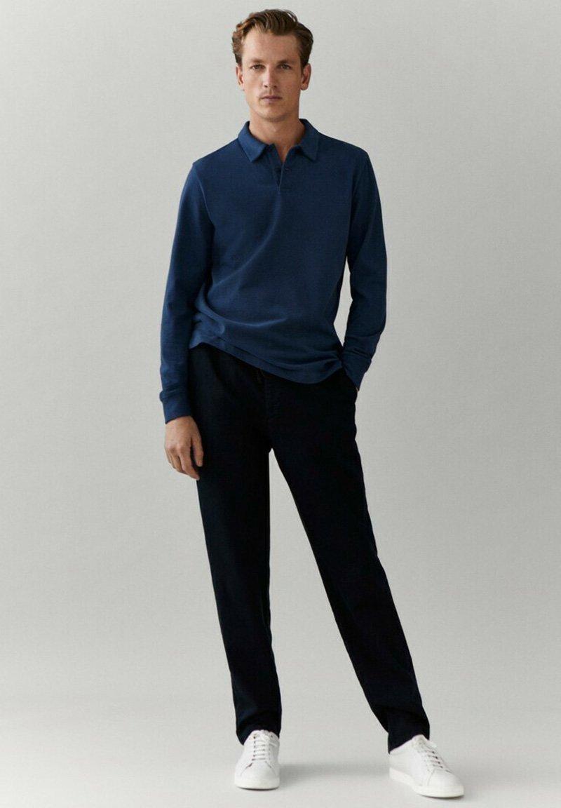 Massimo Dutti - MIT LANGEN ÄRMELN - Polo shirt - blue