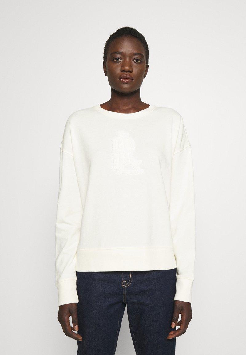 Lauren Ralph Lauren - COZETTE FRNCH TERRY - Long sleeved top - pale cream