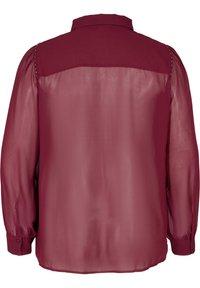 Zizzi - Button-down blouse - red - 2