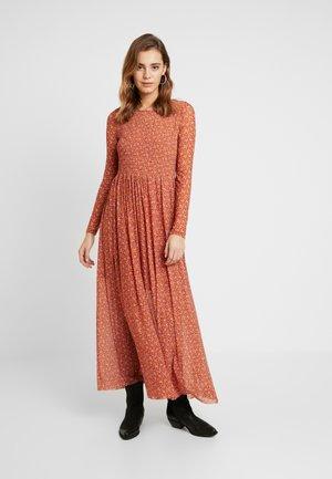HELLO AND GOODYBYE MIDI - Maxi šaty - brown