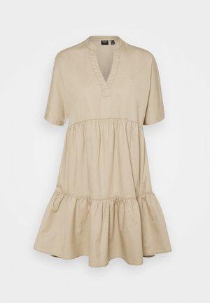 VMSIENNA TIERED DRESS - Day dress - beige