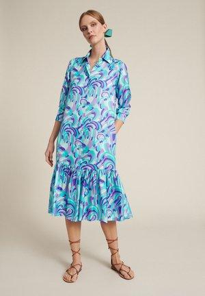Shirt dress - var turchese/viola