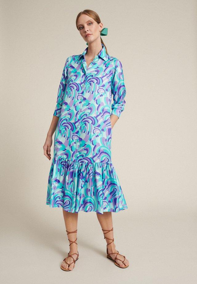 Sukienka koszulowa - var turchese/viola