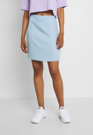 HIGH WAIST SKIRT - Mini skirt - light blue