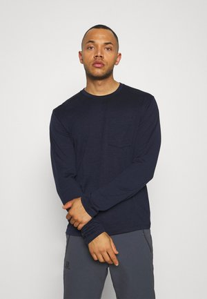 MENS RAVYN POCKET CREWE - Long sleeved top - midnight navy
