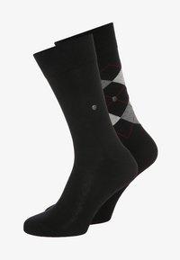 Burlington - 2 PACK - Ponožky - black - 0