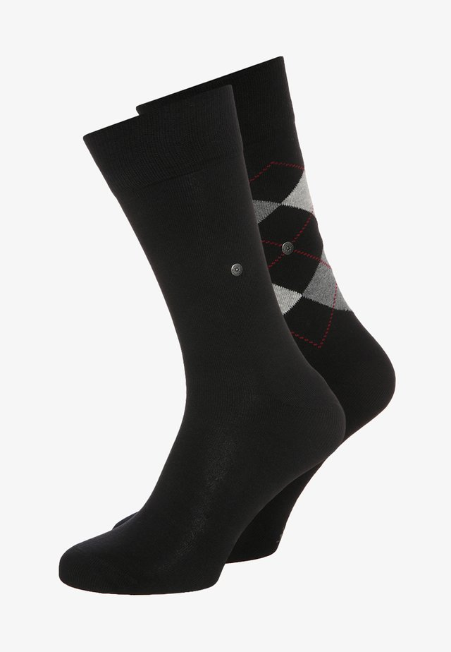 2 PACK - Calcetines - black