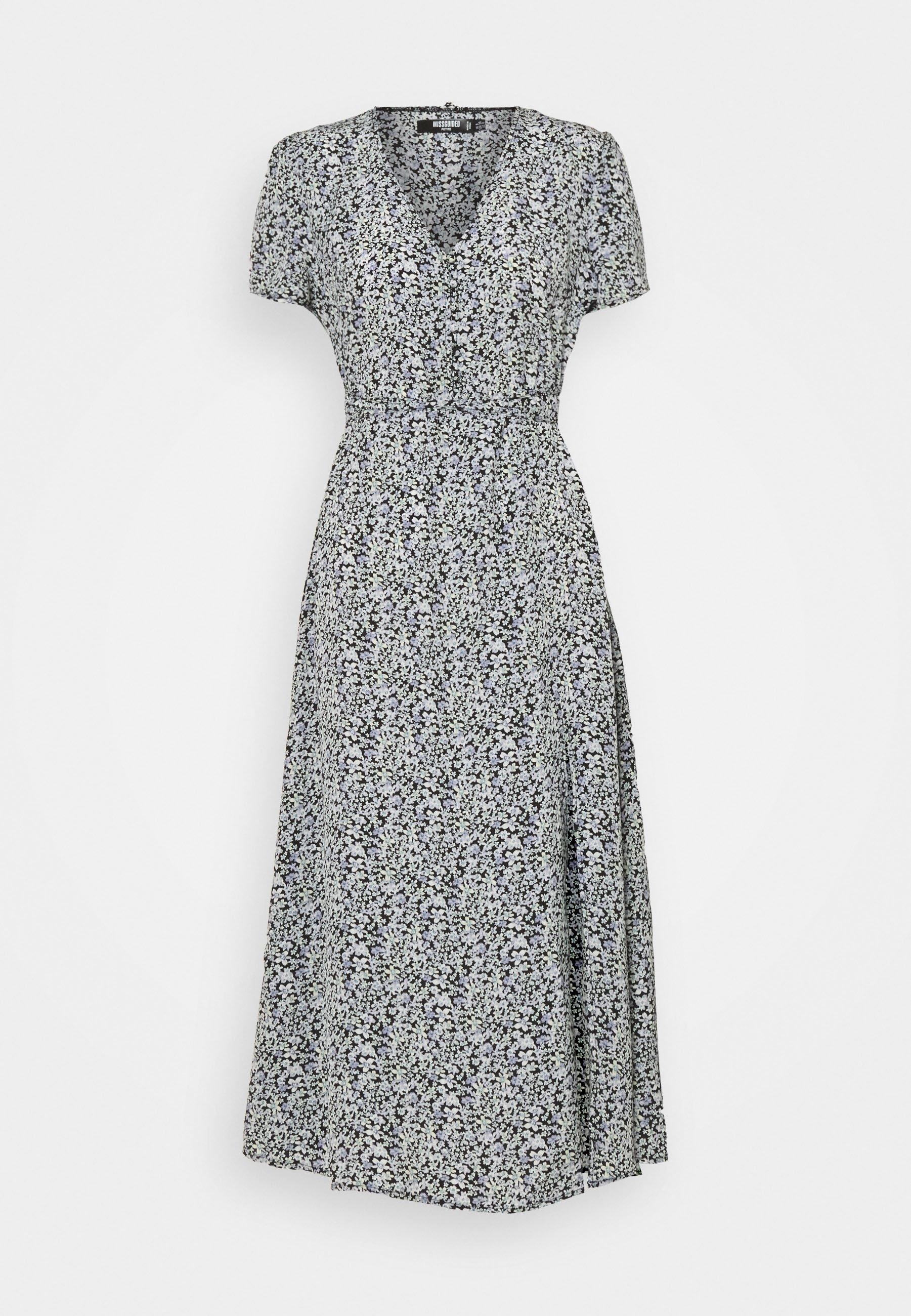 Women HALF BUTTON MIDI DRESS - Day dress