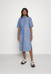 JDY - JDYPOPPY LIFE LONG DRESS - Maxi dress - medium blue denim - 0