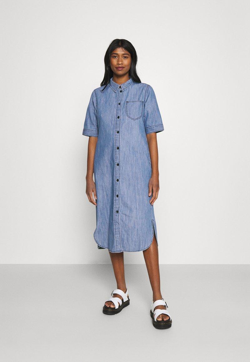 JDY - JDYPOPPY LIFE LONG DRESS - Maxi dress - medium blue denim