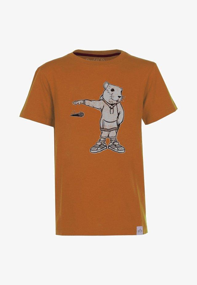 MIC DROP - T-shirt med print - rust