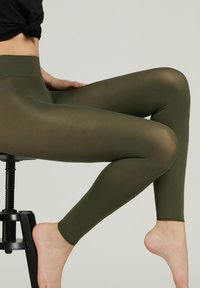 Calzedonia - BLICKDICHTE SOFT TOUCH TOTAL COMFORT LEGGINGS - Tights - verde militare - 2