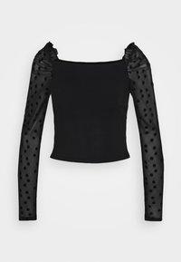 New Look - SPOT FLOCKED PUFF  - Long sleeved top - black - 0