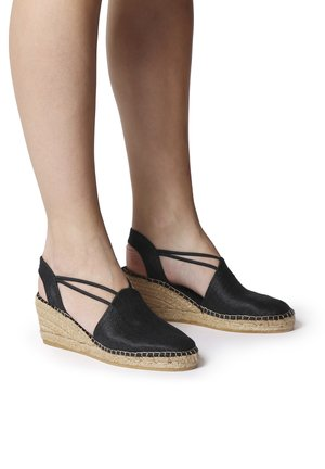 TURIA - Wedge sandals - black