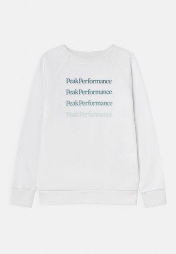 JR GROUND CREW UNISEX - Sweatshirt - white