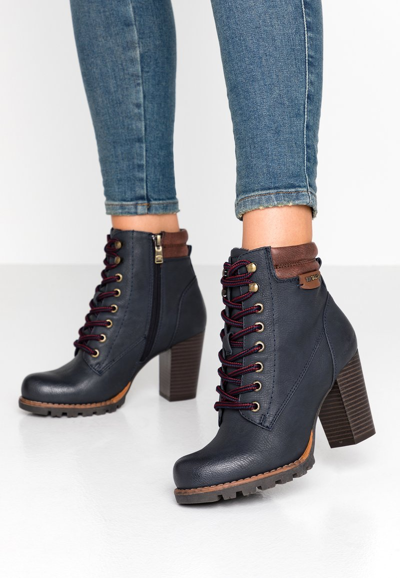 TOM TAILOR - Ankle boots - navy