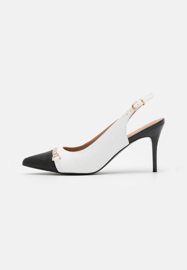 CANNON - High heels - white/black