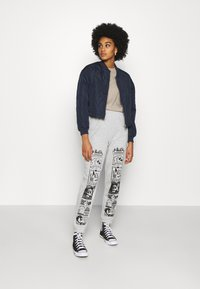 NEW girl ORDER - CONVERSATION JOGGERS - Tracksuit bottoms - grey - 1