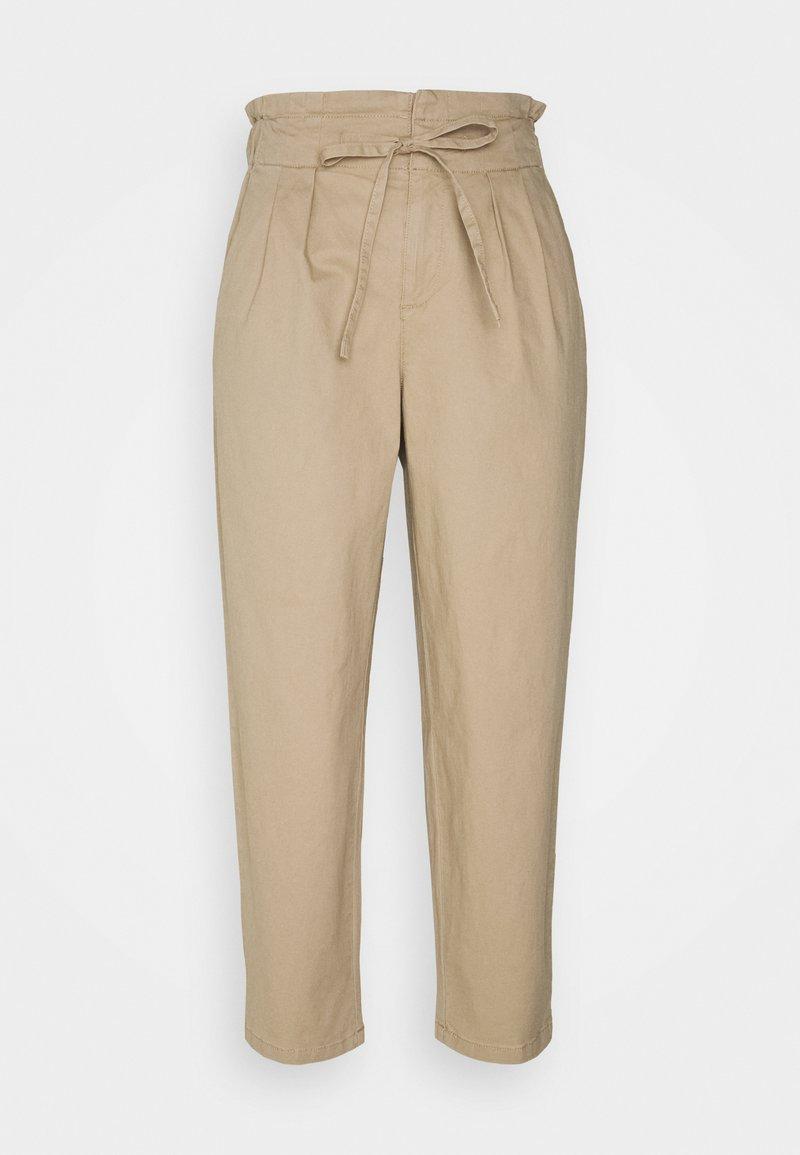Vero Moda Petite - VMEVANY LOOSE STRING PANT - Trousers - beige