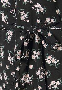 Vero Moda - VMSAGA COLLAR SHIRT DRESS  - Shirt dress - black/dara - 6
