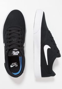 Nike SB - CHARGE SLR - Matalavartiset tennarit - black/white - 1