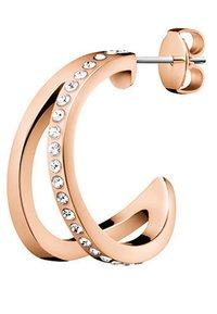 Calvin Klein - DAMEN-CREOLE OUTLINE  - Earrings - rosegold-coloured - 1