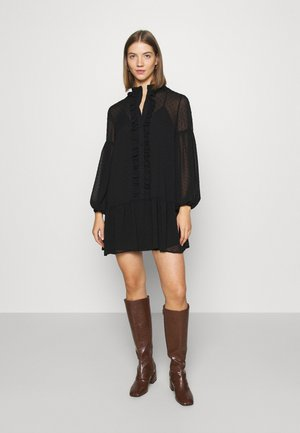 UMA DOBBY SMOCK DRESS - Day dress - black