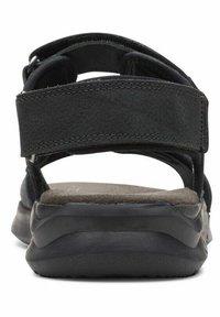 Clarks - CREEK - Walking sandals - black leather - 2