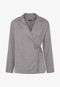 Who What Wear - SIDE TIE - Blazer - grey - 4