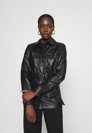 ELINE  - Faux leather jacket - black