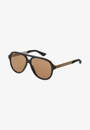 Sunglasses - black/yellow/brown