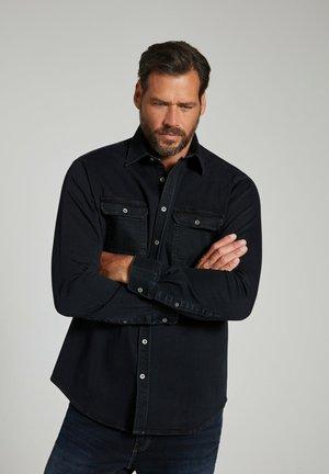 JP 1880 JEANSOVERHEMD, OVERSHIRT, LANGE MOUWEN, KENTKRAAG, MODER - Shirt - black