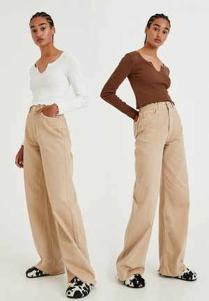 2 PACK - Long sleeved top - brown