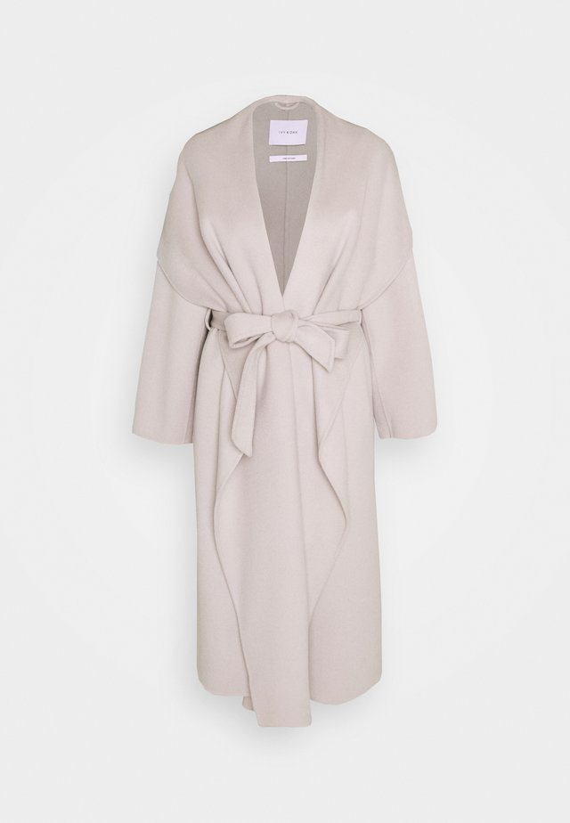 BATHROBE COAT - Zimní kabát - light grey