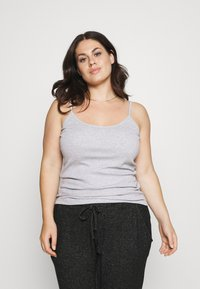 CAPSULE by Simply Be - PACK 3 CAMIS - Top - black/grey/white - 0