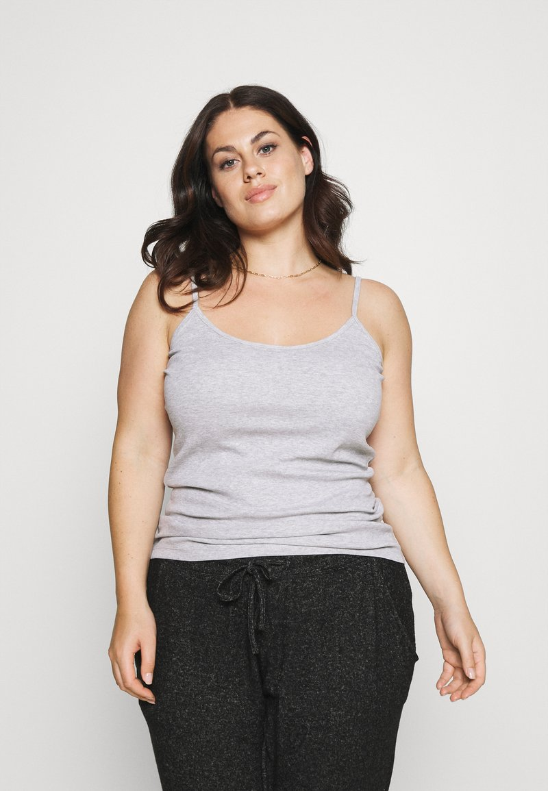 CAPSULE by Simply Be - PACK 3 CAMIS - Top - black/grey/white