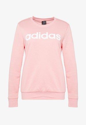ESSENTIALS SPORT LONG SLEEVE PULLOVER - Sweatshirt - pink/white
