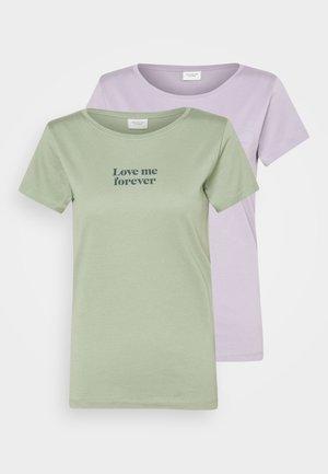 JDYCHICAGO LIFE  2 PACK - Print T-shirt - lavender gray