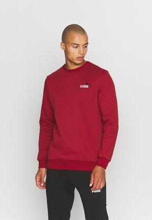 EMBROIDERY LOGO CREW - Sweatshirt - intense red
