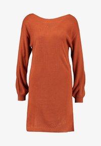 ONLY - ONLJESSIE BOATNECK DRESS - Jumper dress - ginger bread - 4