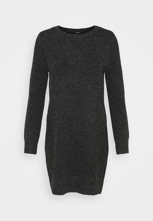 VMDOFFY O NECK DRESS PETIT - Strikket kjole - black/melange