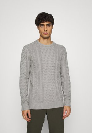 BELINSKI - Jumper - mottled light grey