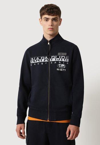 Zip-up hoodie - blu marine