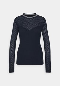 POINTELLE R SLIM KNIT WMN L\S - Jumper - sartho blue