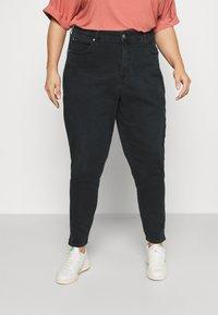 Calvin Klein Jeans Plus - HIGH RISE SKINNY ANKLE - Jeans Skinny Fit - denim black - 0
