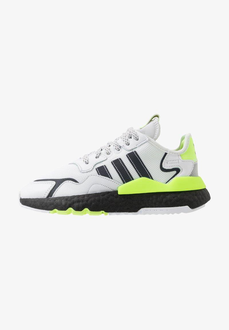 adidas Originals - NITE JOGGER - Matalavartiset tennarit - footwear white/core black/signal green
